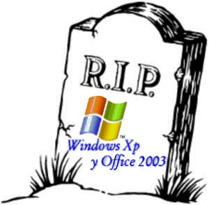 (O-T) finaliza el Soporte para Windows XP SP3 y office 2003